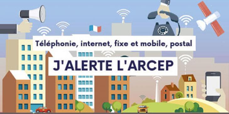 Signalement des problèmes de réseaux internet et mobile
