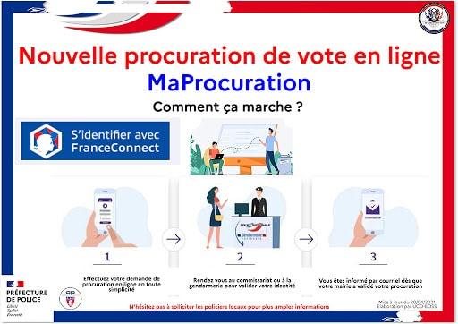 Nouveau : sa procuration de vote en ligne !
